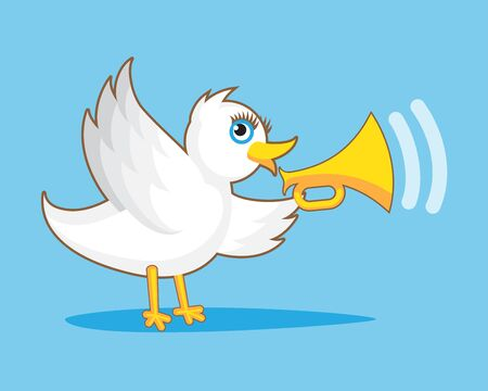 white bird: White Bird with Horn