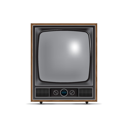 old square: retro style tv with square screen