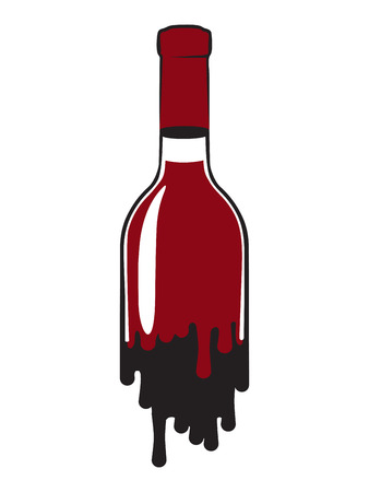 closed corks: fluid bottle of red wine