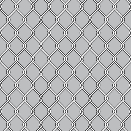 chain fence: Chain Link Fence, Wire Mesh Illustration