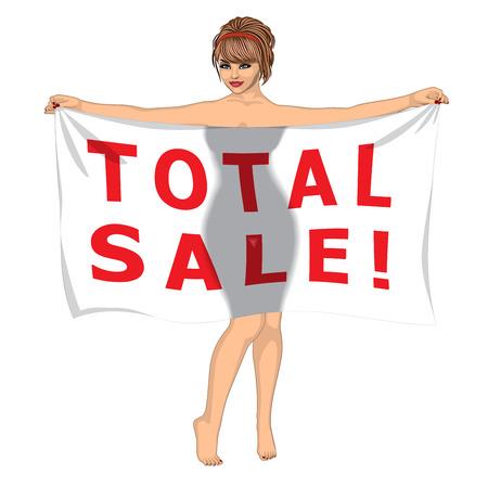 totales: Sexy Girl Detr�s de la bandera del total Venta