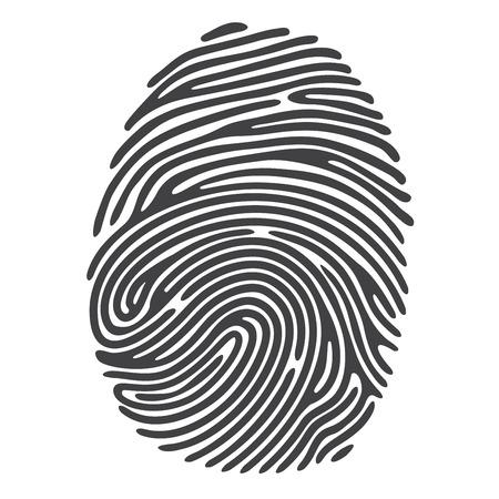 Schwarz Fingerabdruck Standard-Bild - 43403188