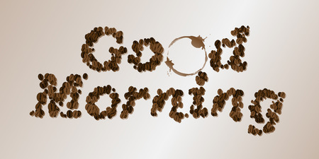 fresh brewed: Good Morning. Coffee Seed Font