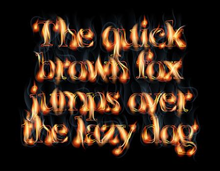 burning alphabet: Fire Burning Latin Alphabet Font