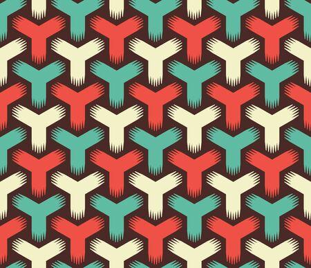 retro color: Abstract Retro Color Seamless Pattern