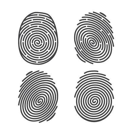 dedo: Conjunto de Huellas Dactilares Vectores