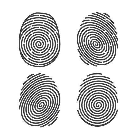 finger prints: Set of Finger Prints