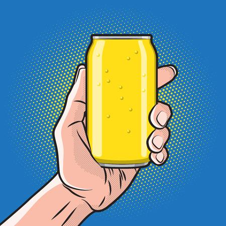 lata de refresco: Bebida fresca puede a disposici�n