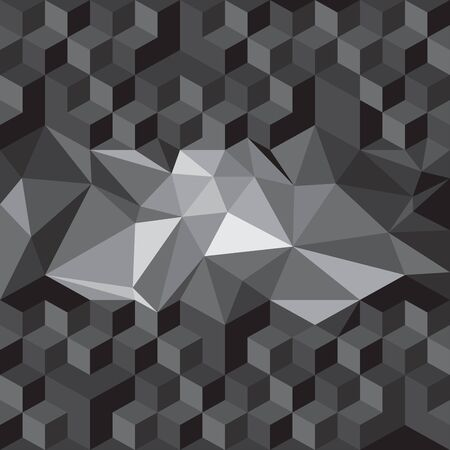 abstract cubes: abstract cubes and triangles