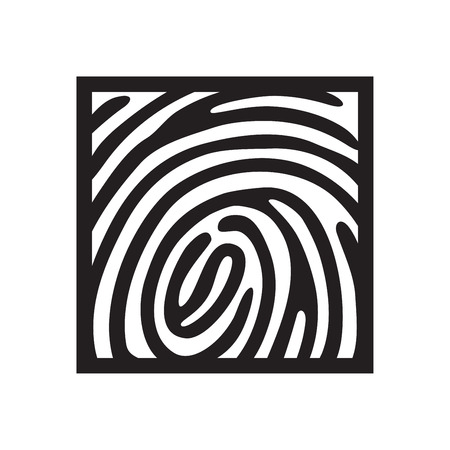 finger prints: finger print icon