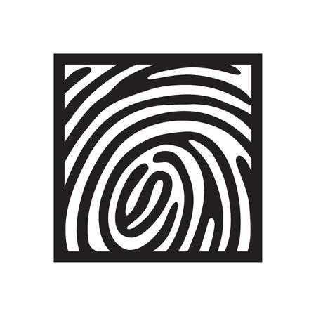 dedo: icono de huella digital