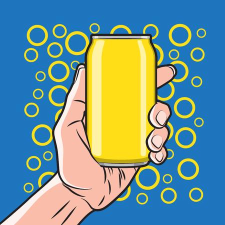 segurar: Bebida fresca pode in Hand