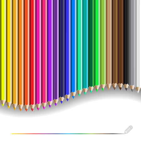 crayon de couleurs: color pencil pattern. Background with color pencils