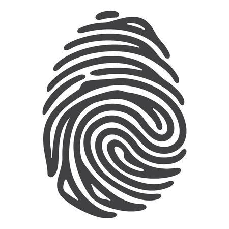 dedo: Vector de huella digital negro aislado en el fondo blanco Vectores