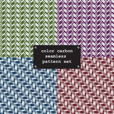 weave: Collor carbon fiber weave seamless texture pattern. vector background