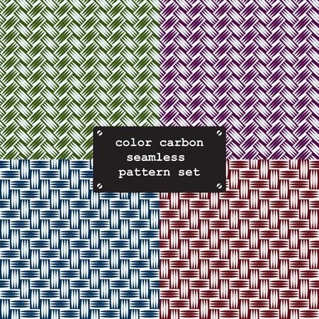 fibers: Collor carbon fiber weave seamless texture pattern. vector background