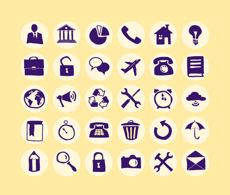 business support: Hand drawn Business Icon set for web and mobile.