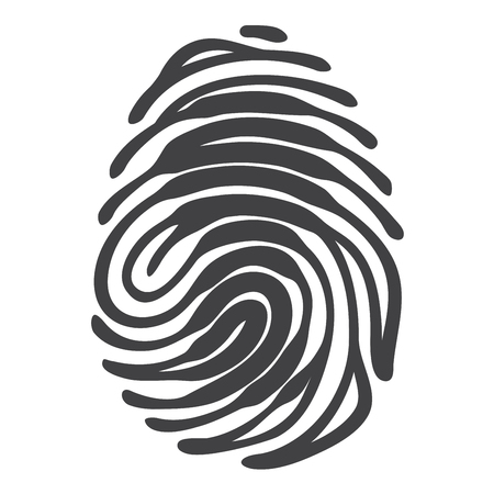 fingermark: Finger print with access keyhole shape. Security concept. fingerprint isolated on white background Illustration