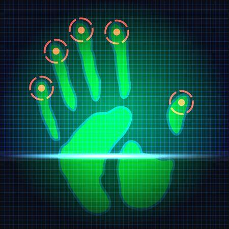 hand print: hand print identification system scanner