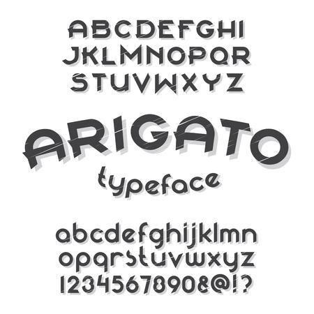 typeface: Arigato typeface. Round font set.