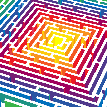perplex: abstract background with 3d labyrinth