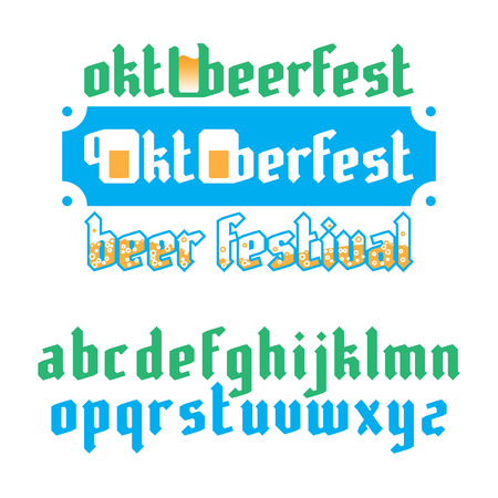 gothic style: Oktoberfest beer festival lettering. Modern Gothic Style Fonts.