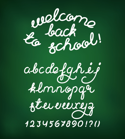 alphabetical order: Welcome back to school Illustration