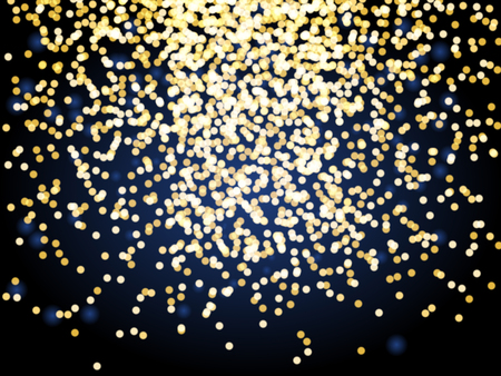 string lights: Blured shining glowing light garlands. Christmas string garland lights on blue background Illustration