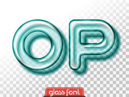golosinas: alfabeto fuente de cristal súper realista con la transparencia y sombras. letras y números aislados bombilla 3D Vectores