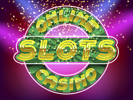 roulette online: Online casino slots lettering. Gold Alphabet Vector Font. Letters on the gold money fall and lightspot background