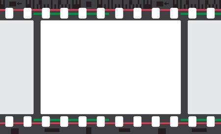 stripe: Color film stripe frame. Retro abstract background