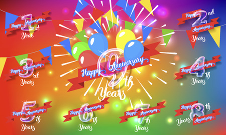Happy anniversary congratulation cards pack