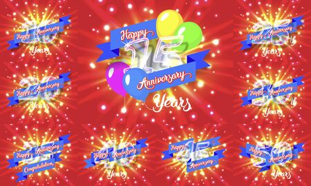 new age: Happy anniversary congratulation cards pack