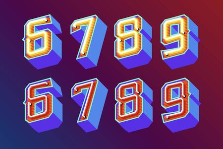 old english: 3D vintage numbers.