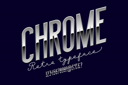 Chrome condensed modern alphabet.