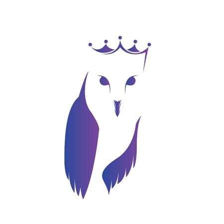 Queen Owl Design Template White Background