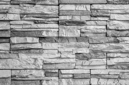 dirty room: Abstract weathered black and white grunge brick wall texture. Can be use for background. Stock Photo