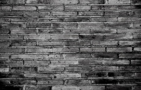 Vintage brick wall pattern background. rough solid texture and grunge surface. Can be use for decorative concept. Banco de Imagens