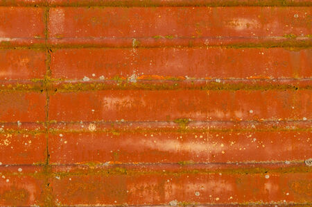 grooves: rusty metal surface with grooves