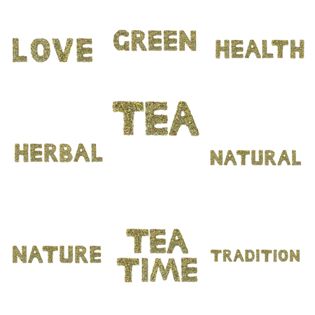 noun: Collection of words spelled out in herbs and tea leaves