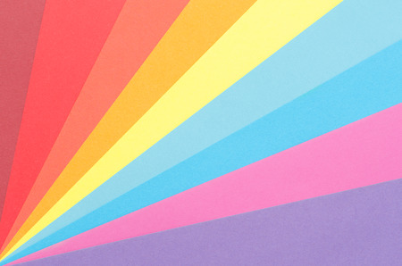 colorful construction paper arranged as diagonal rays  photo