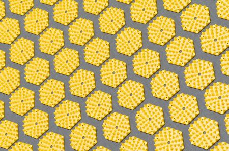 acupressure: regular pattern of an acupressure mat