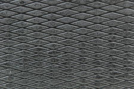 diamond shaped: closeup of the diamond shaped pattern on a surface of the music mixer case Stock Photo