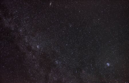 Constellation of the heroic Perseus holding the head of Medusa in the starry night sky 写真素材