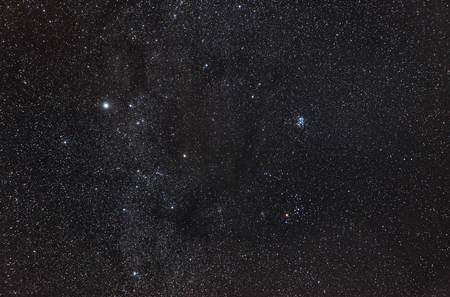 Zodiacal Constellation of Taurus with its star clusters, Pleiades and Hyades