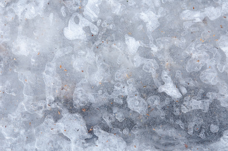 water ice surface with interesting natural patterns and textures