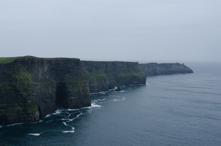 Cliffs of Moher in Ireland on a rainy day