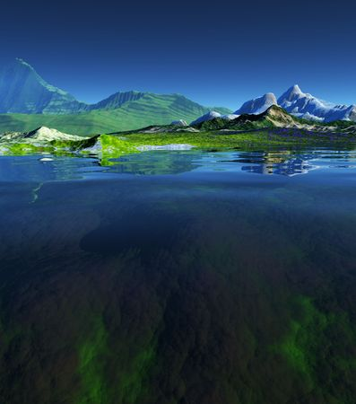 A rendering of a beautiful landscape Stock Photo - 354673