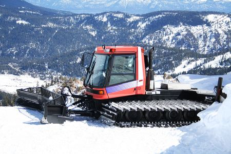 A photo of a snowplow on top of a mountain Stock Photo - 354672