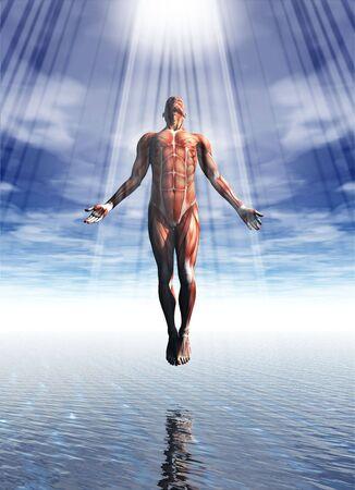 Een weergave van een spirituele vormen